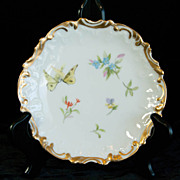 Elite Limoges Small Butterfly Plate by Guerin-Pouyat-Elite
