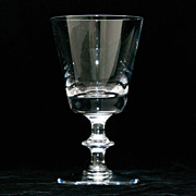 Val St. Lambert State Plain White Wine Glass