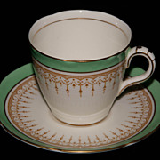 Vintage Royal Doulton Duke of York Green Demitasse Tea Cup