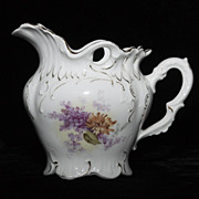 Furstenberg German Creamer - Lavender, Yellow and Gold