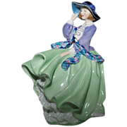 "Royal Doulton ""Top O' the Hill"" Figurine - in Green - 1937"