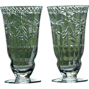 Set of Two (2) Rock Crystal Juice or Jelly Glasses