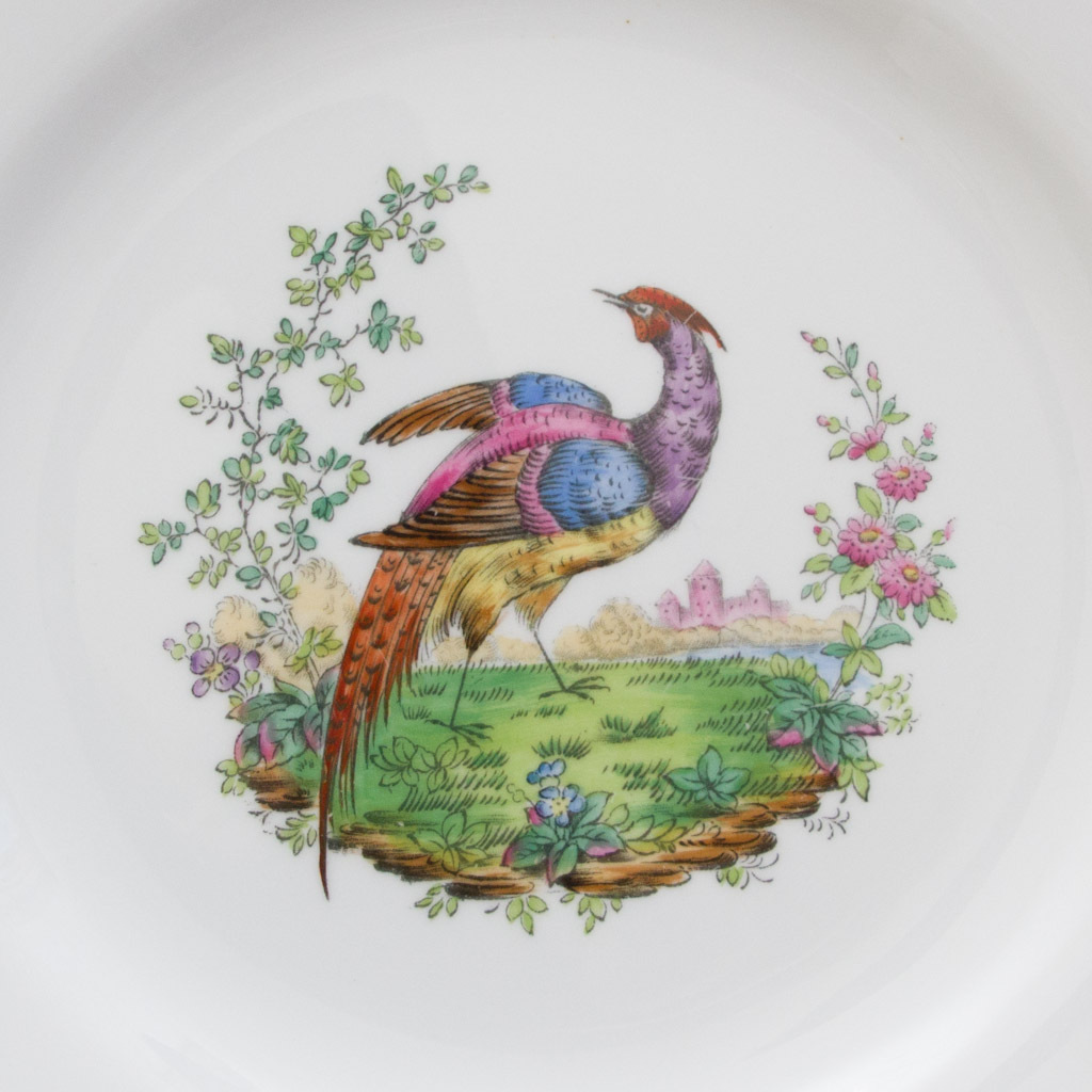 Copeland Spode R3856 Luncheon or Salad Plate - Pheasant with Floral ...
