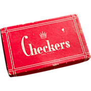 Wooden Crown Checkers in Box by The Embossing Company, Albany NY - No. 3406