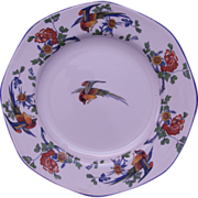 George Jones & Sons Salad Plate - England - Golden Pheasant Pattern - early 1900s