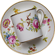 Gorgeous Hand Painted and Signed Foley Bone China Demitasse Cup and Saucer by Elijah Brain and Co.
