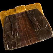 Vintage Armadillo Purse or Handbag - Unique Clutch Style