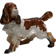 Large Vintage Spaniel Dog Figurine by Wales Made in Japan