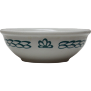 Iroquois China Ceral or Soup Bowl - Green and White