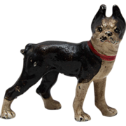 Vintage Boston Terrier Dog Iron Paperweight or Figurine