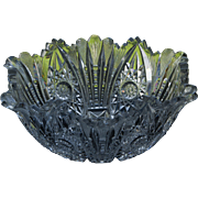 Vintage Cut Crystal Salad Bowl - Star Pattern