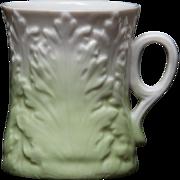 Acanthus Leaf Parian Mug - Green and White