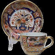 English Porcelain Imari Cup Saucer circa 1800