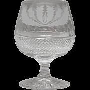Edinburgh Crystal Thistle Small Brandy