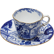 Royal Crown Derby Blue Mikado Cup and Saucer - 1918