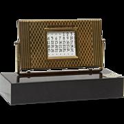 Black Onyx and Brass Automatic 50 Year Calendar