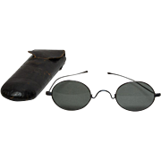 Antique 19th Century Sunglasses in Original Case