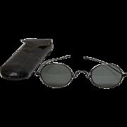 Antique 19th Century Sunglasses in Original Case