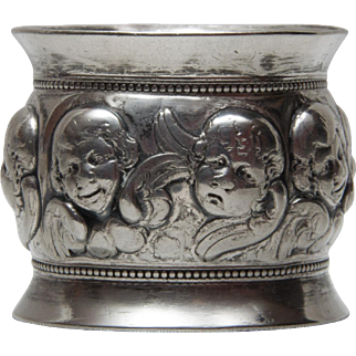 Silver Plate Figural Cherub Napkin Ring
