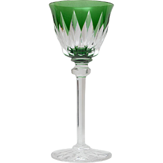 St. Louis Crystal France Wine Hock - Provence Green