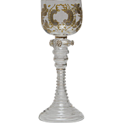 Bohemian Moser Roemer Wine Art Glass