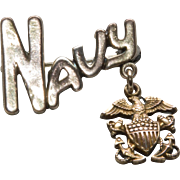 WW2 Era Navy Sweetheart Pin by Amico