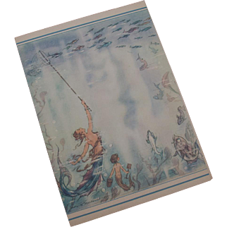 "R.MS. Aquitania ""The Ship Beautiful"" 1949 Mermaid Luncheon Menu"