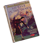 "Nancy Drew ""The Clue in the Diary"" - Dust Jacket, Orange End Papers - 1944"