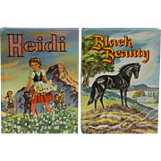 Black Beauty by Anna Sewell and Heidi by Johanna Spyri