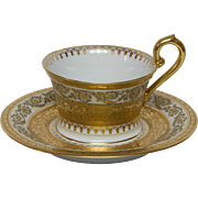 Limoges Raynaud Ceralene Imperial Tea Cup and Saucer