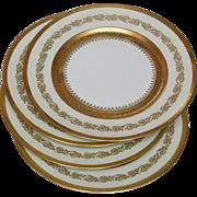 Four Limoges Raynaud Ceralene Imperial Dinner Plates