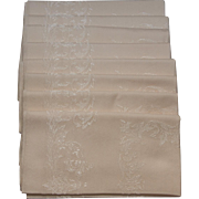 8 Vintage Damask Dinner Napkins