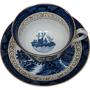 Blue Willow Occupied Japan Tea Cup and Saucer