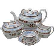 Early Spode Chinoiserie Tea Set Circa 1815