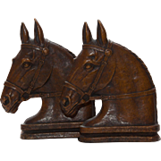 Vintage Horse Head Bookends