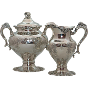 Gorgeous Hand Chased Sugar and Creamer - 5336