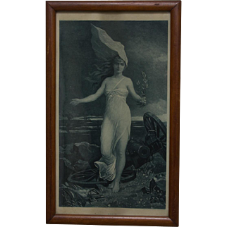 Photogravure of Louis Maeterlinck's 'Allegory of Peace'