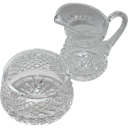 Waterford Open Sugar and Creamer - Alana Pattern