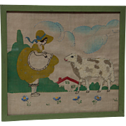 Little Bo Peep Embroidery with Sheep