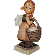 Vintage Hummel 'Mediation' - Girl with Basket and Letter #13 TMK-3