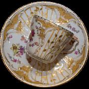 Gorgeous KPM Demitasse Cup & Saucer