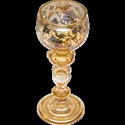 Gorgeous Bohemian Roemer Wine Glass