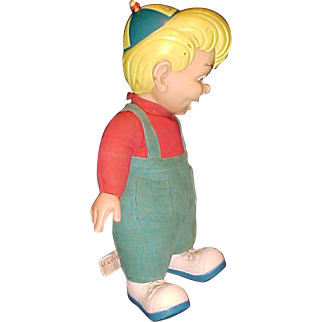 """BEANY (from Beany and Cecil 1950 TV show) Mattel 1949 Bob Clampett tagged 19"""" doll TALKS"""