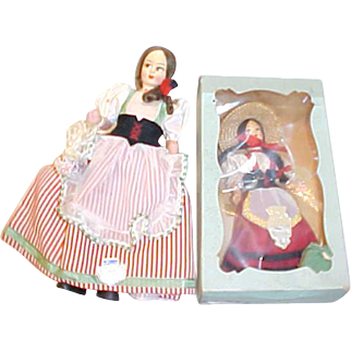 """2 EROS Italy dolls 8"""" and 10"""" Remo Siena Florence MINT Pristine"""