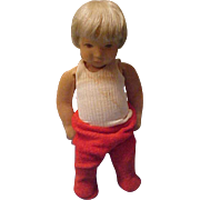 "10"" Vintage Kathe Kruse stockinette child tagged clothes adorable - Red Tag Sale Item"