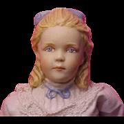 "9"" Porcelain Alice by Kathy Redmond 1990 U.F.D.C. Washington Rare doll President Roosevelt's daughter"