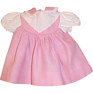 Pink and white baby doll dress for Tiny Tears, Dydee Baby, Dot Starlet snap