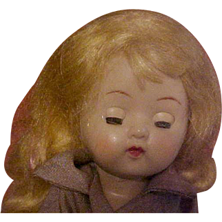 Ginger hard plastic Ginny doll with tagged Brownie outfit 1950's