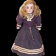 "21"" leather body bisque JDK Kestner #154 DEP German doll with old navy sailor outfit"