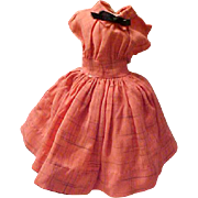 """Miss Revlon Kissing Pink linen plum dress for 18"""" doll remnant of tag"""